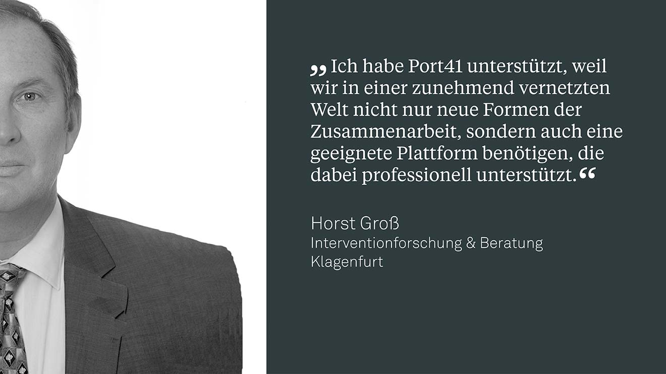 Dr. Horst Groß,  Interventionforscher & Berater